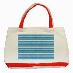 Lines Classic Tote Bag (red) by Valentinaart