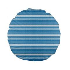 Lines Standard 15  Premium Flano Round Cushions by Valentinaart