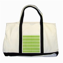 Lines Two Tone Tote Bag by Valentinaart