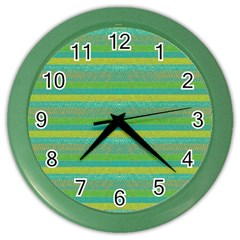 Lines Color Wall Clocks by Valentinaart