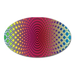 Abstract Circle Colorful Oval Magnet by Simbadda