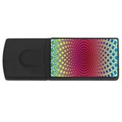 Abstract Circle Colorful Usb Flash Drive Rectangular (4 Gb) by Simbadda