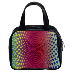 Abstract Circle Colorful Classic Handbags (2 Sides) by Simbadda