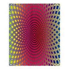 Abstract Circle Colorful Shower Curtain 60  X 72  (medium)  by Simbadda