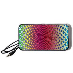 Abstract Circle Colorful Portable Speaker (black) by Simbadda