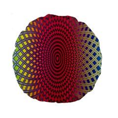 Abstract Circle Colorful Standard 15  Premium Round Cushions by Simbadda