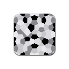 Pentagons Decagram Plain Triangle Rubber Square Coaster (4 Pack)  by Alisyart