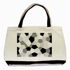 Pentagons Decagram Plain Triangle Basic Tote Bag (two Sides) by Alisyart