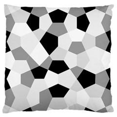 Pentagons Decagram Plain Triangle Large Flano Cushion Case (two Sides) by Alisyart