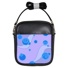Purple Wave Circle Blue Girls Sling Bags by Alisyart