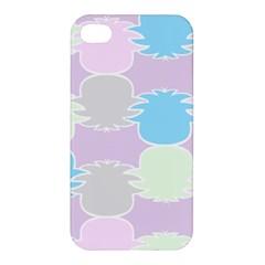 Pineapple Puffle Blue Pink Green Purple Apple Iphone 4/4s Premium Hardshell Case by Alisyart