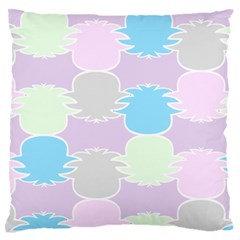 Pineapple Puffle Blue Pink Green Purple Large Flano Cushion Case (two Sides) by Alisyart