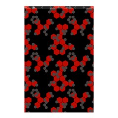 Red Digital Camo Wallpaper Red Camouflage Shower Curtain 48  X 72  (small)  by Alisyart