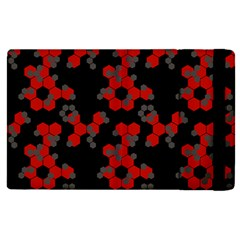 Red Digital Camo Wallpaper Red Camouflage Apple Ipad 3/4 Flip Case by Alisyart