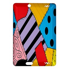 Sally s Patchwork Pattern Amazon Kindle Fire Hd (2013) Hardshell Case by Alisyart