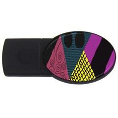 Sally Skellington Fabric Usb Flash Drive Oval (4 Gb) by Alisyart