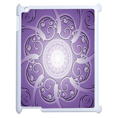 Purple Background With Artwork Apple Ipad 2 Case (white) by Alisyart