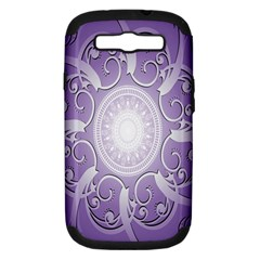 Purple Background With Artwork Samsung Galaxy S Iii Hardshell Case (pc+silicone) by Alisyart