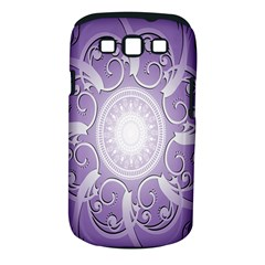 Purple Background With Artwork Samsung Galaxy S Iii Classic Hardshell Case (pc+silicone) by Alisyart