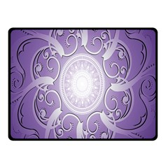 Purple Background With Artwork Double Sided Fleece Blanket (small)  by Alisyart