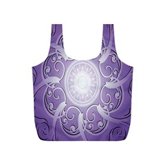 Purple Background With Artwork Full Print Recycle Bags (s)  by Alisyart