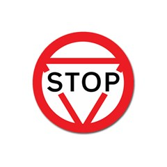 Stop Sign Magnet 3  (round) by Alisyart