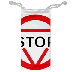 Stop Sign Jewelry Bag by Alisyart