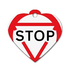 Stop Sign Dog Tag Heart (one Side) by Alisyart