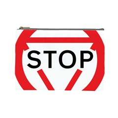 Stop Sign Cosmetic Bag (large)  by Alisyart