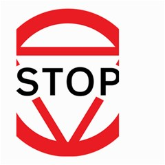 Stop Sign Small Garden Flag (two Sides) by Alisyart