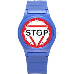 Stop Sign Round Plastic Sport Watch (s) by Alisyart