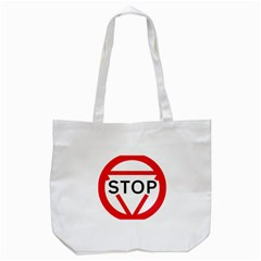 Stop Sign Tote Bag (white) by Alisyart