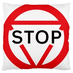 Stop Sign Standard Flano Cushion Case (two Sides) by Alisyart