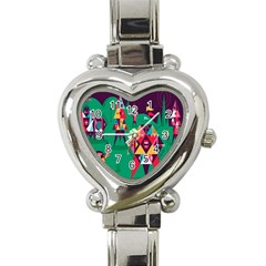 Studio Crafts Unique Visual  Projects Heart Italian Charm Watch by Alisyart