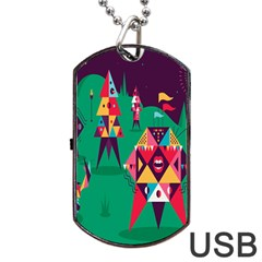 Studio Crafts Unique Visual  Projects Dog Tag Usb Flash (two Sides) by Alisyart