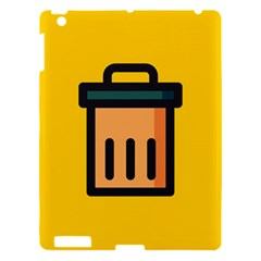 Trash Bin Icon Yellow Apple Ipad 3/4 Hardshell Case by Alisyart
