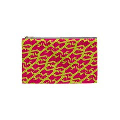 Typeface Variety Postcards Unique Illustration Yellow Red Cosmetic Bag (small)  by Alisyart