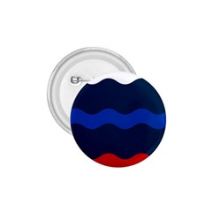 Wave Line Waves Blue White Red Flag 1 75  Buttons by Alisyart