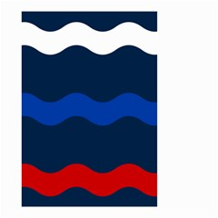 Wave Line Waves Blue White Red Flag Small Garden Flag (two Sides) by Alisyart