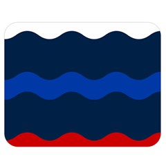 Wave Line Waves Blue White Red Flag Double Sided Flano Blanket (medium)  by Alisyart