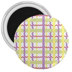 Webbing Plaid Color 3  Magnets by Alisyart