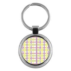 Webbing Plaid Color Key Chains (round)  by Alisyart