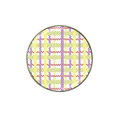 Webbing Plaid Color Hat Clip Ball Marker (4 Pack) by Alisyart
