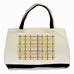Webbing Plaid Color Basic Tote Bag (two Sides) by Alisyart