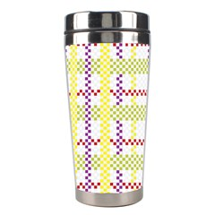 Webbing Plaid Color Stainless Steel Travel Tumblers by Alisyart