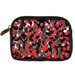 Spot Camuflase Red Black Digital Camera Cases by Alisyart