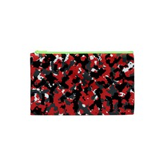 Spot Camuflase Red Black Cosmetic Bag (xs) by Alisyart