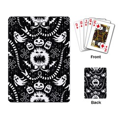 Wrapping Paper Nightmare Monster Sinister Helloween Ghost Playing Card by Alisyart