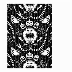 Wrapping Paper Nightmare Monster Sinister Helloween Ghost Small Garden Flag (two Sides) by Alisyart
