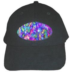 Abstract Trippy Bright Sky Space Black Cap by Simbadda
